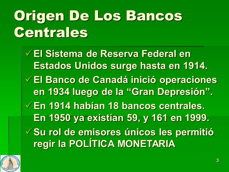 Origen De Los Bancos Centrales