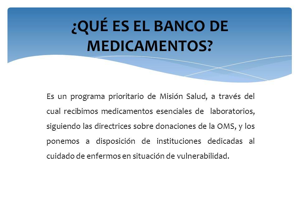 ¿QUÉ ES EL BANCO DE MEDICAMENTOS