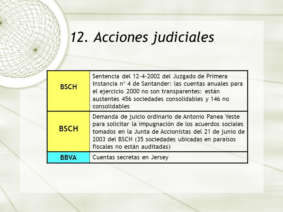 12. Acciones judiciales BSCH BBVA