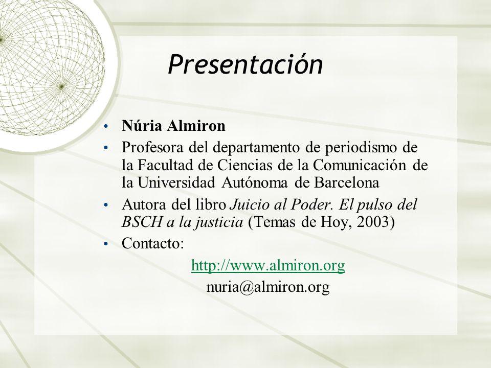 Presentación Núria Almiron