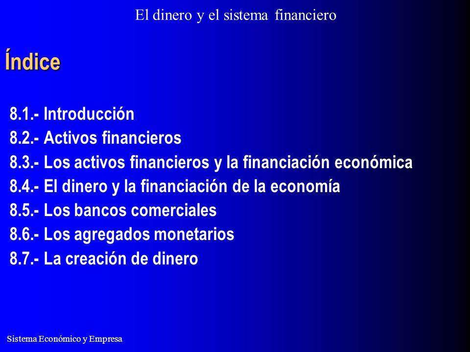 Índice 8.1.- Introducción 8.2.- Activos financieros