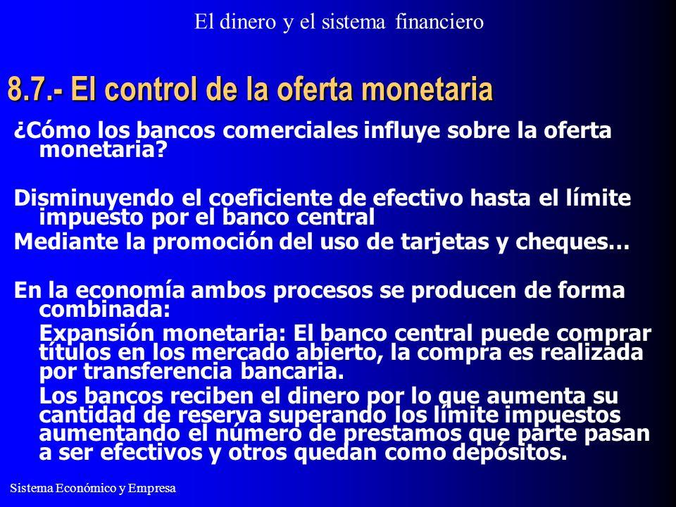 8.7.- El control de la oferta monetaria