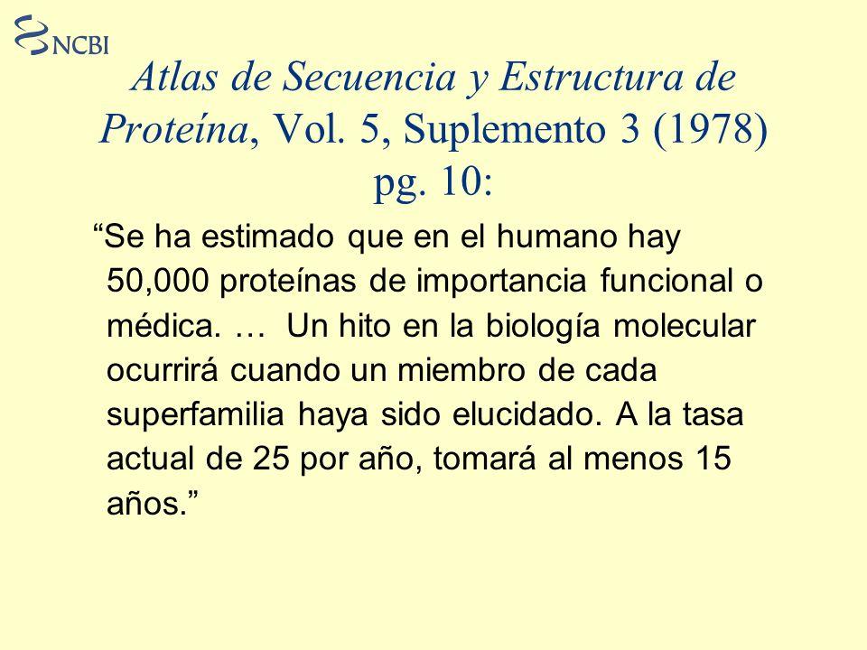Atlas de Secuencia y Estructura de Proteína, Vol