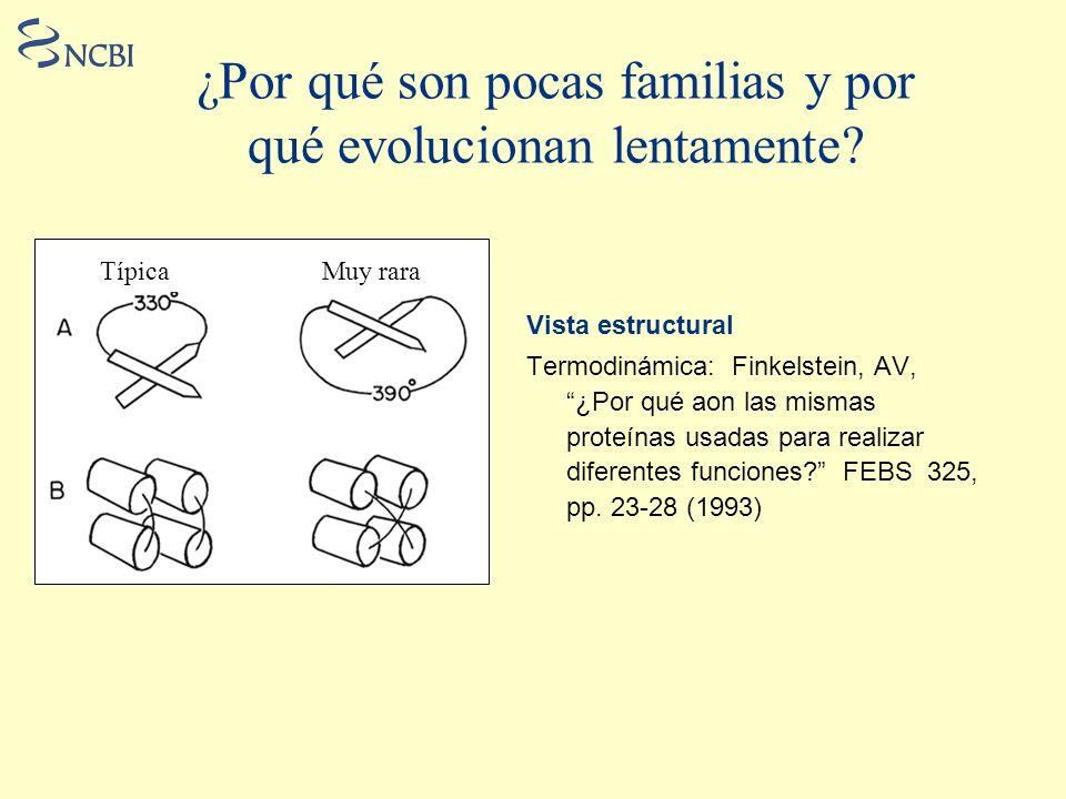 ¿Por qué son pocas familias y por qué evolucionan lentamente