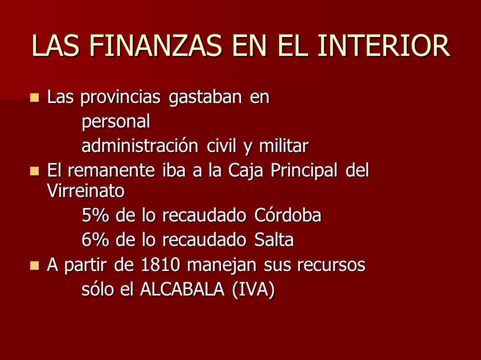 LAS FINANZAS EN EL INTERIOR
