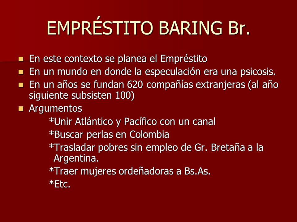 EMPRÉSTITO BARING Br. En este contexto se planea el Empréstito