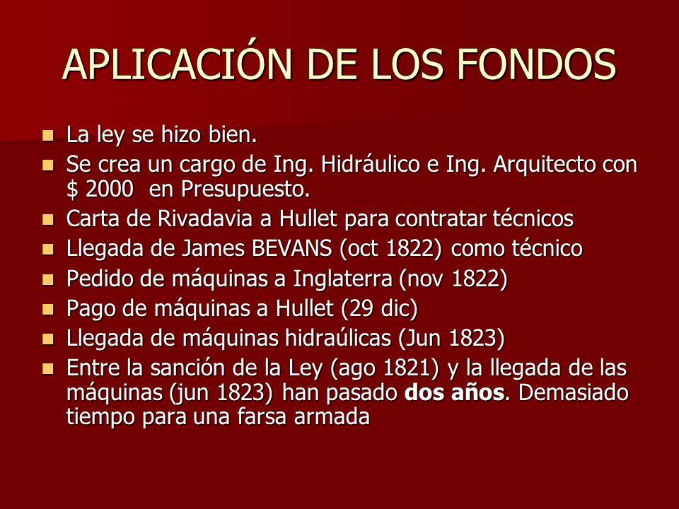 APLICACIÓN DE LOS FONDOS