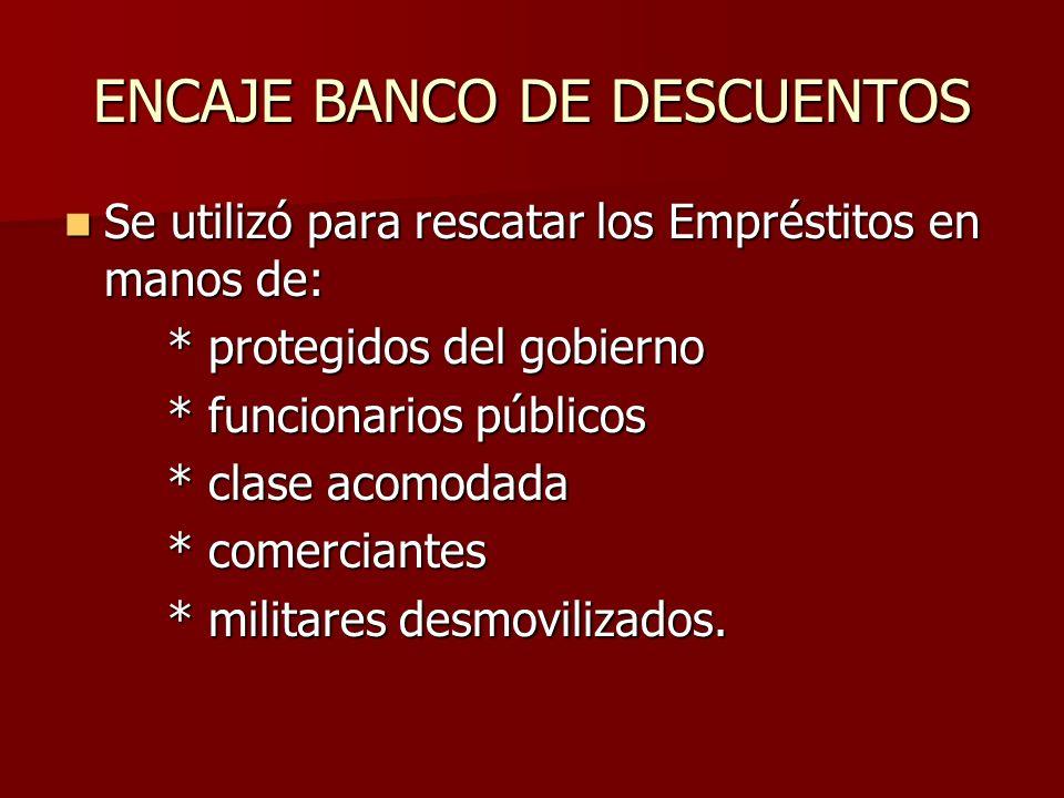 ENCAJE BANCO DE DESCUENTOS