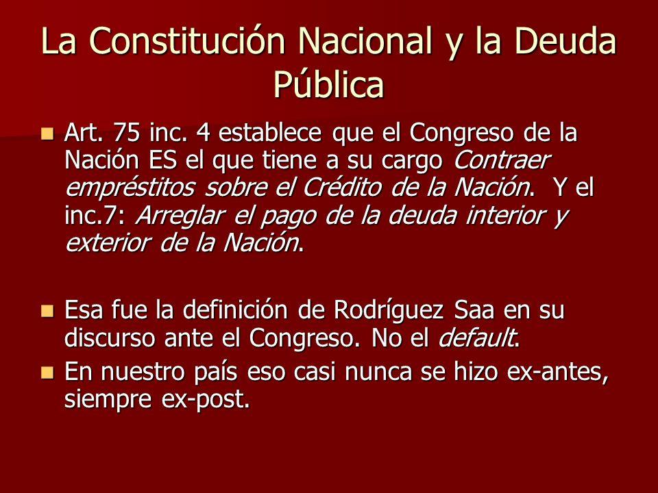 La Constitución Nacional y la Deuda Pública