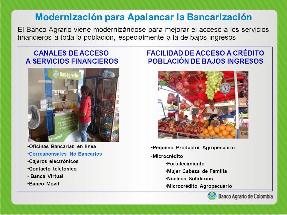 Modernización para Apalancar la Bancarización