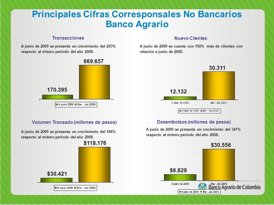 Principales Cifras Corresponsales No Bancarios