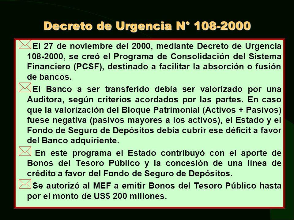 Decreto de Urgencia N° 108-2000