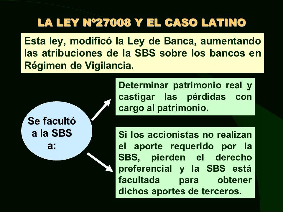 LA LEY Nº27008 Y EL CASO LATINO