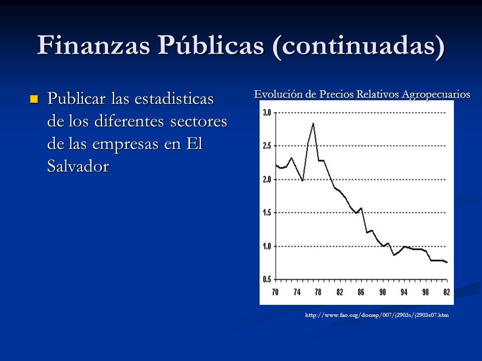 Finanzas Públicas (continuadas)