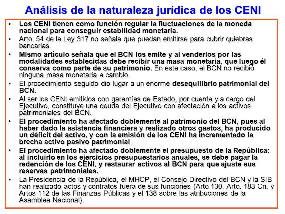 Análisis de la naturaleza jurídica de los CENI