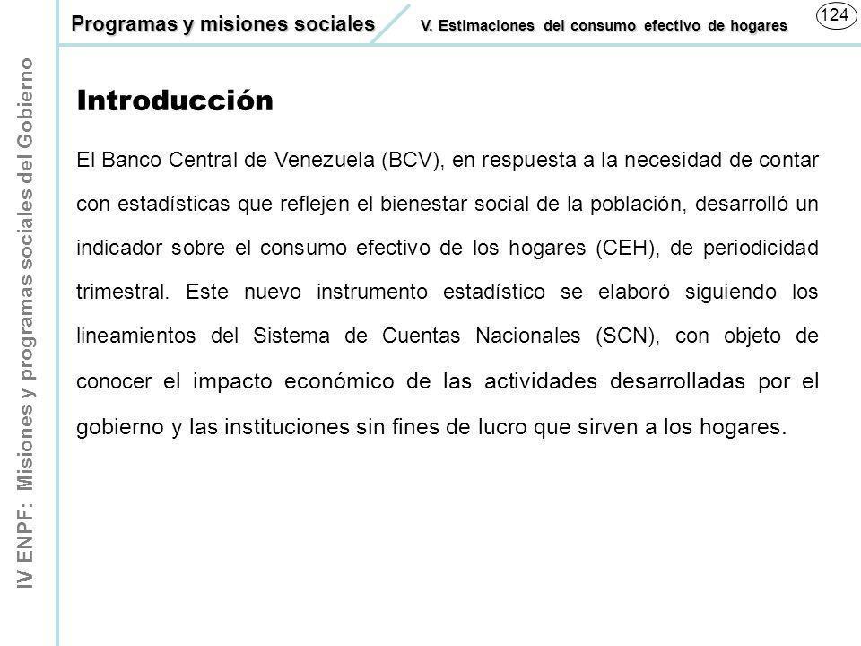 Programas y misiones sociales. V