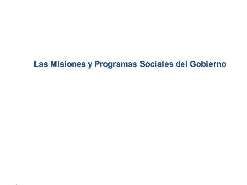 Las Misiones y Programas Sociales del Gobierno
