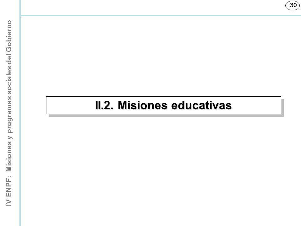 II.2. Misiones educativas