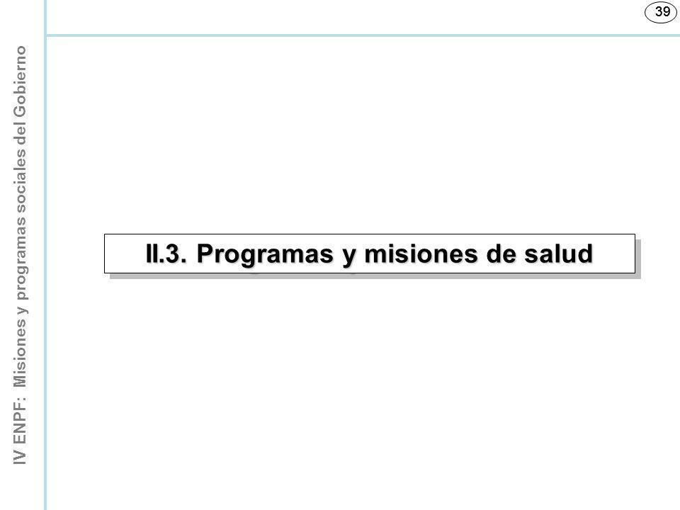 II.3. Programas y misiones de salud