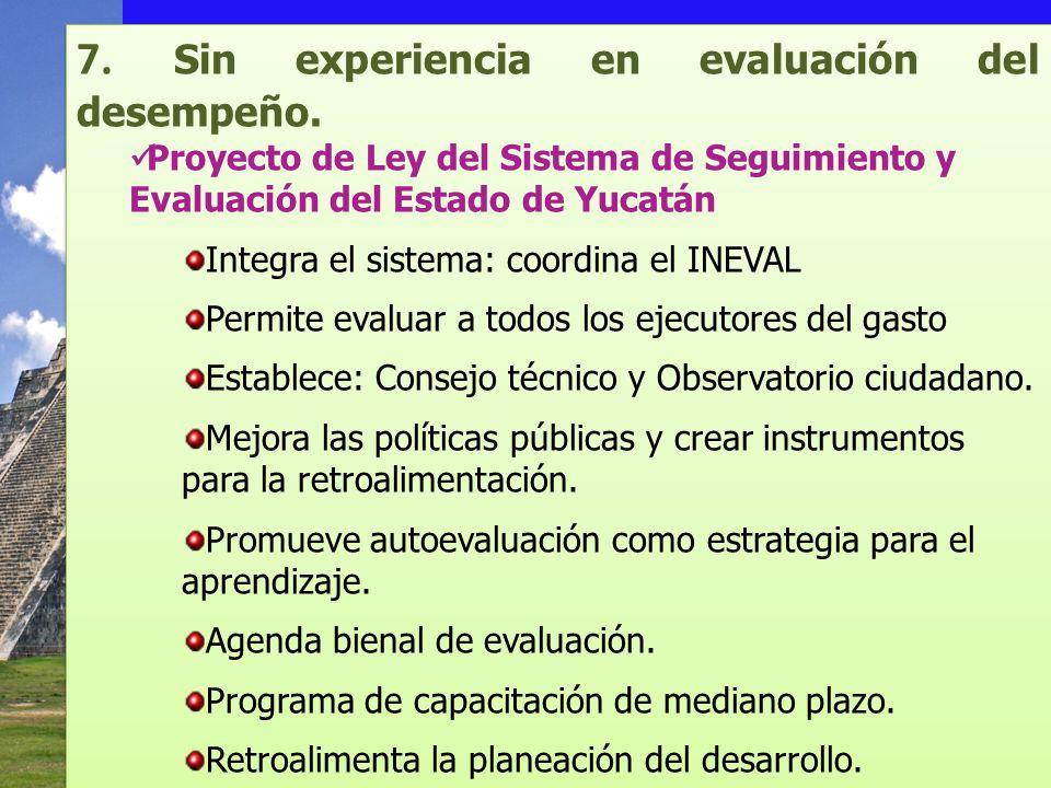 7. Sin experiencia en evaluación del desempeño.