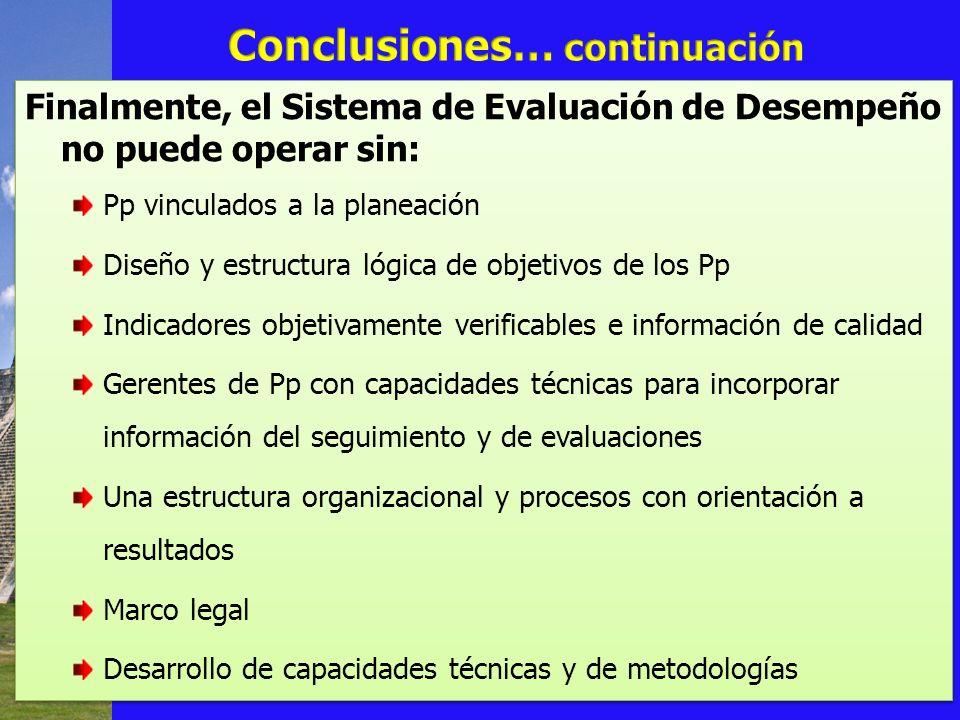 Conclusiones… continuación