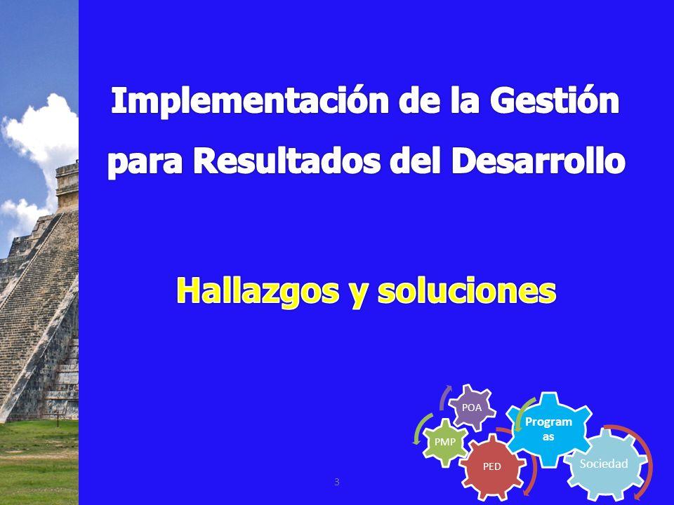 Implementación de la Gestión para Resultados del Desarrollo
