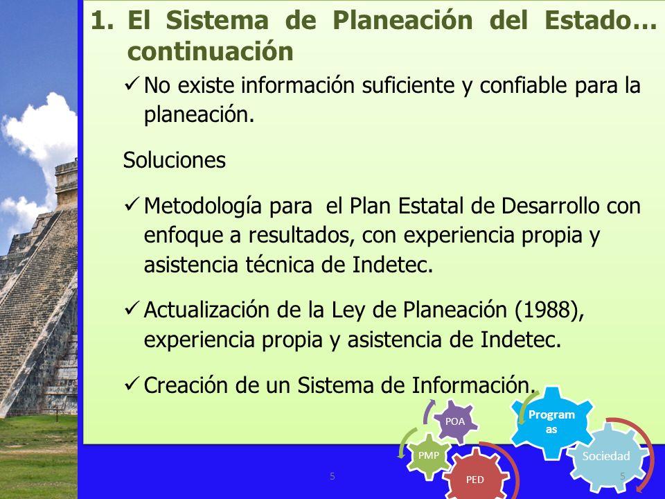 El Sistema de Planeación del Estado… continuación
