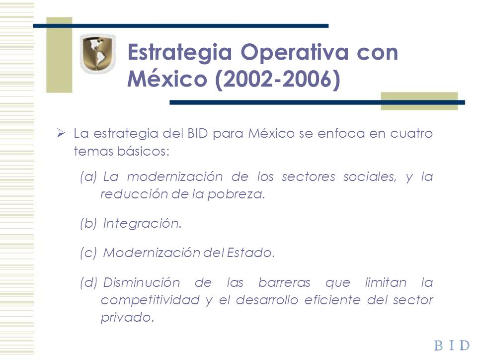 Estrategia Operativa con México (2002-2006)