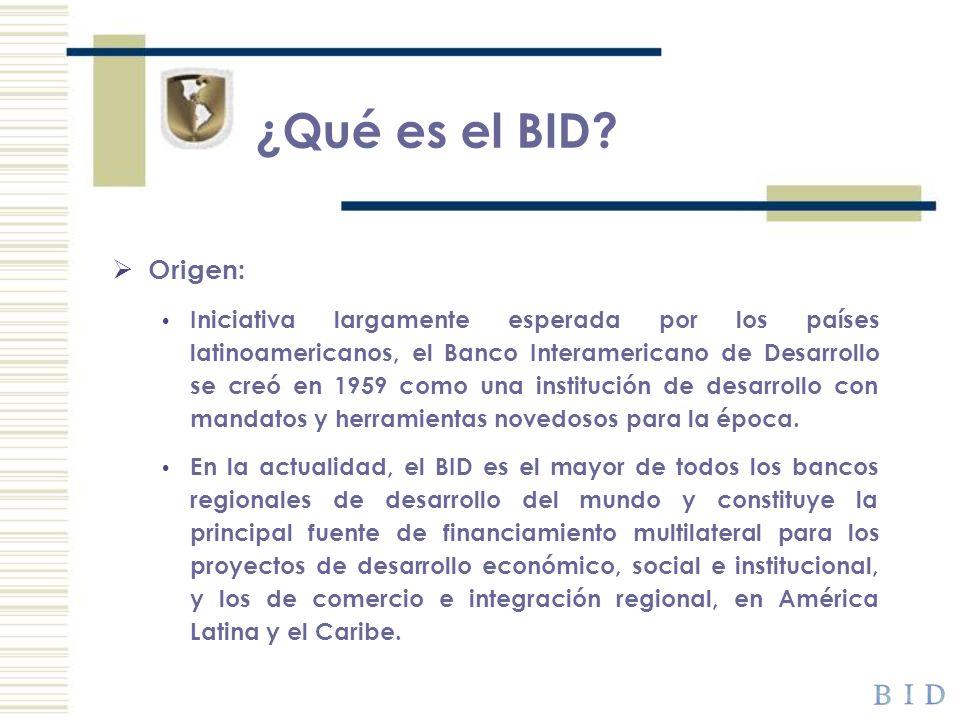 ¿Qué es el BID Origen: