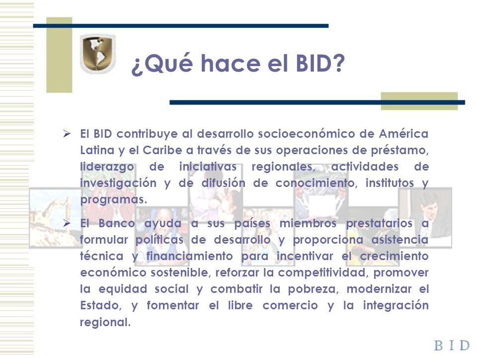 ¿Qué hace el BID