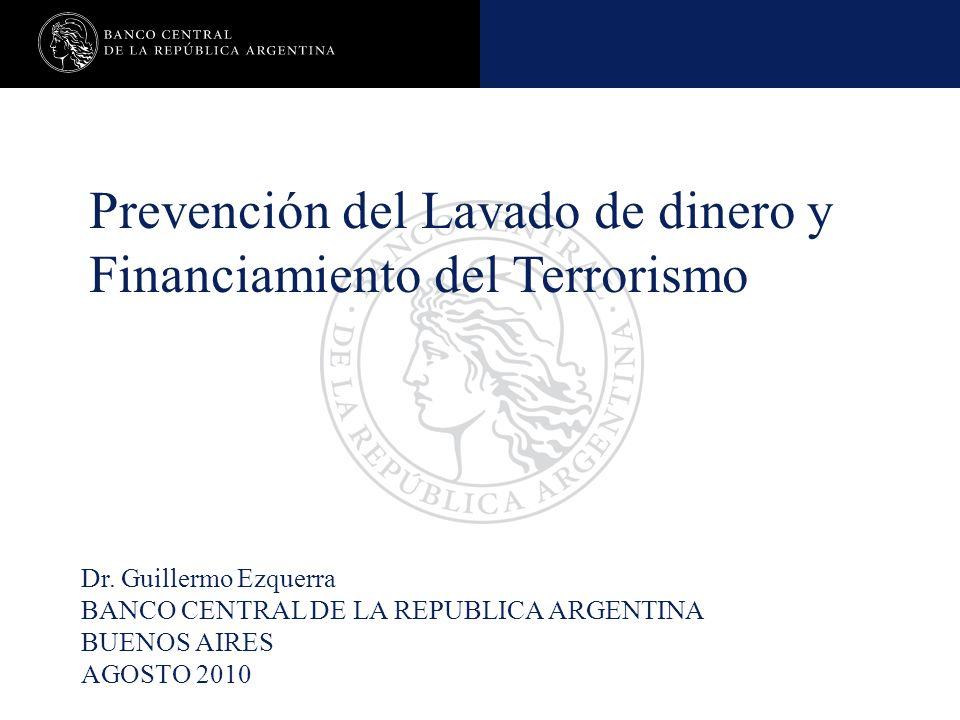 Prevención del Lavado de dinero y Financiamiento del Terrorismo