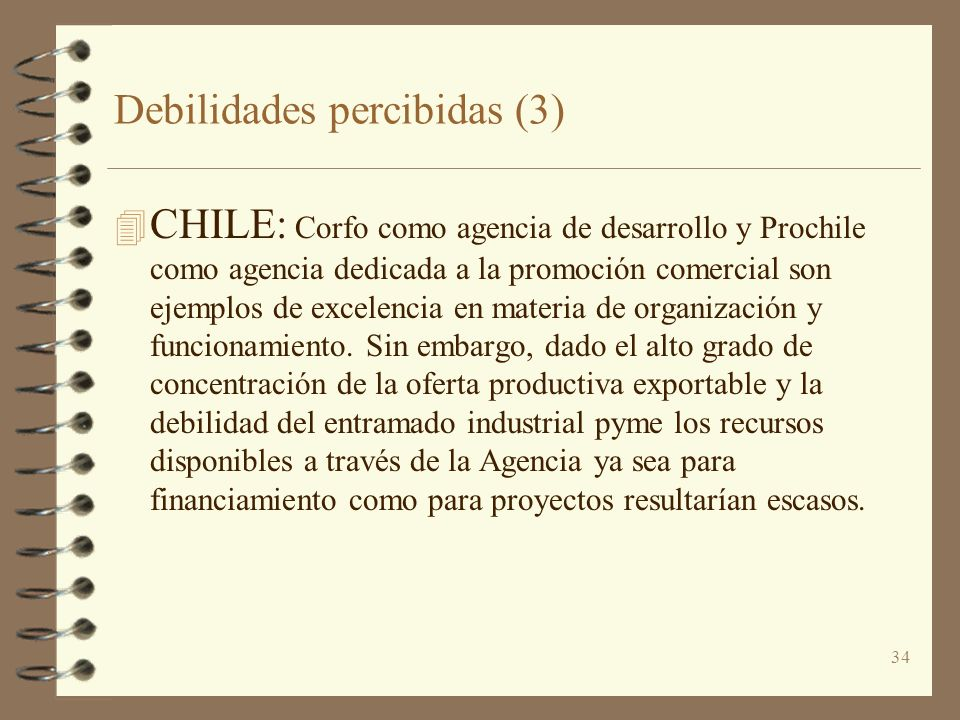 Debilidades percibidas (3)