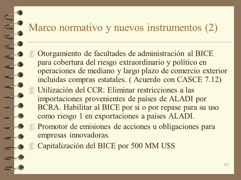 Marco normativo y nuevos instrumentos (2)