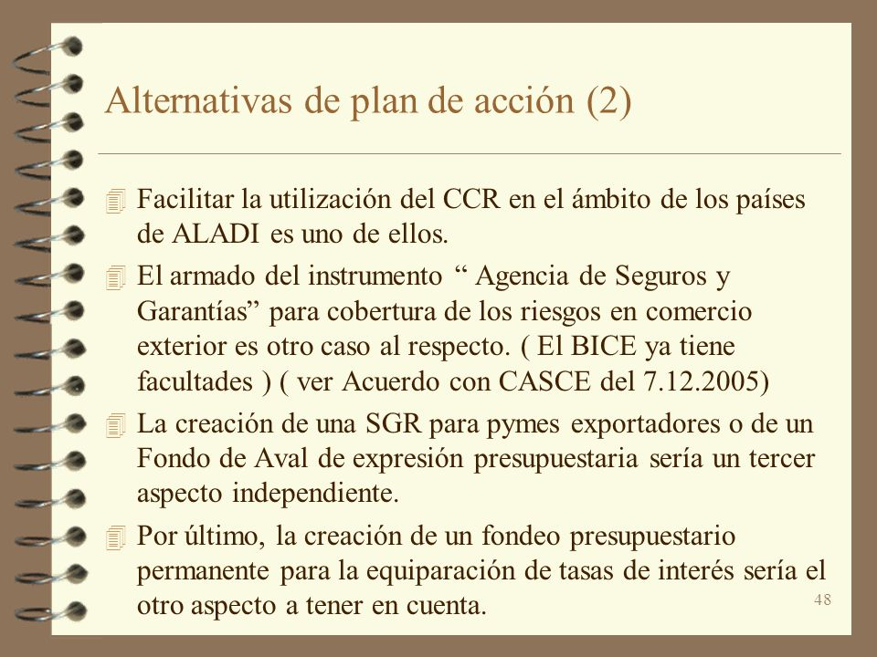 Alternativas de plan de acción (2)
