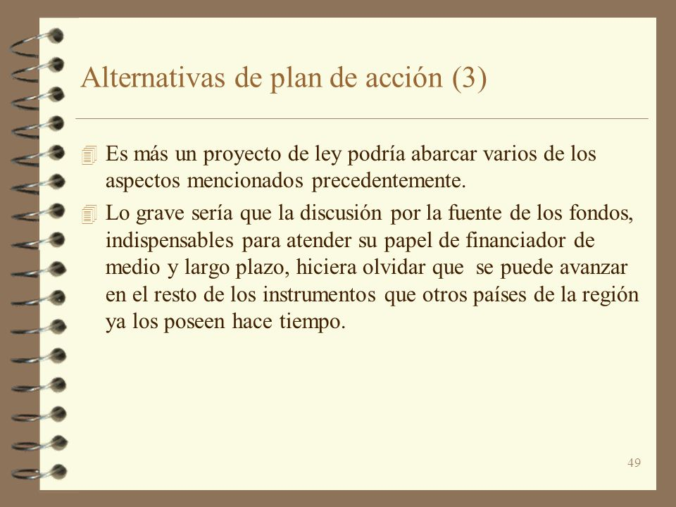 Alternativas de plan de acción (3)
