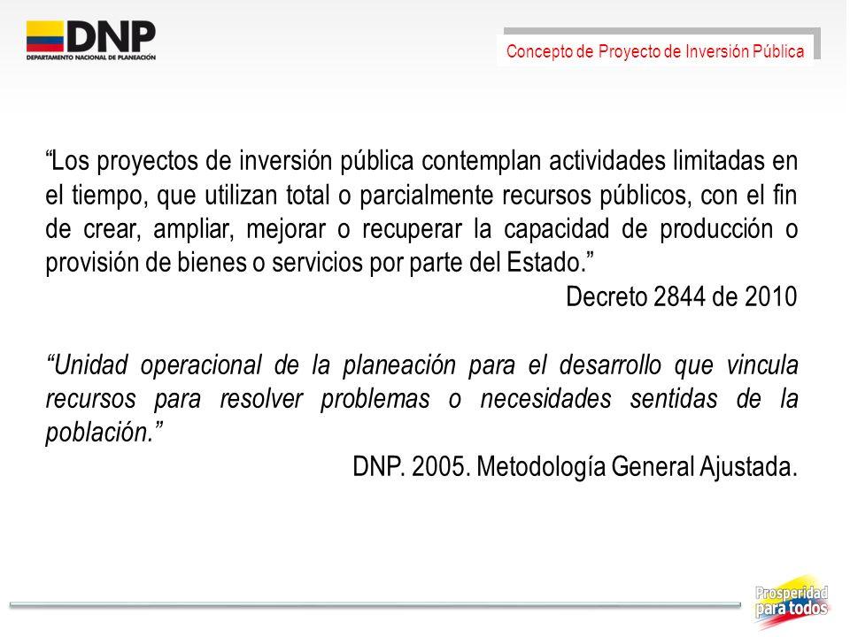 DNP. 2005. Metodología General Ajustada.