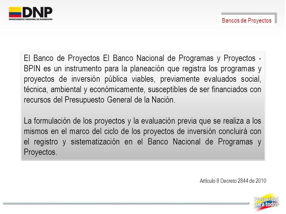 Bancos de Proyectos