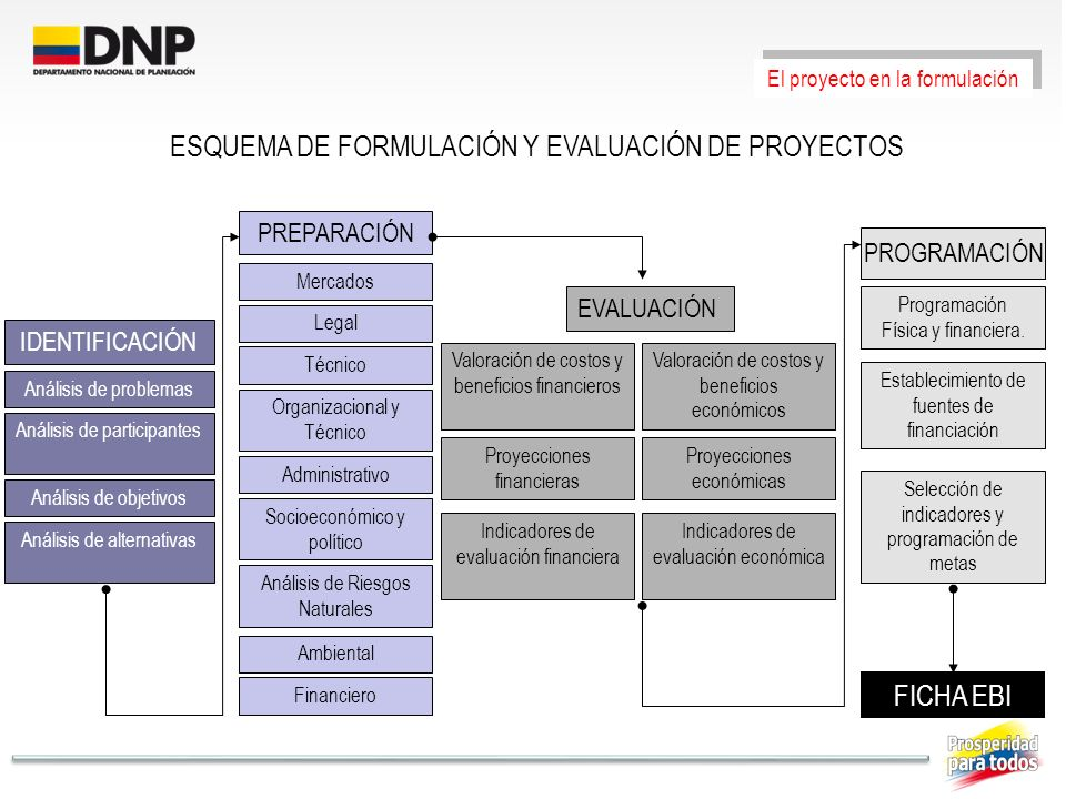 ESQUEMA DE FORMULACIÓN Y EVALUACIÓN DE PROYECTOS