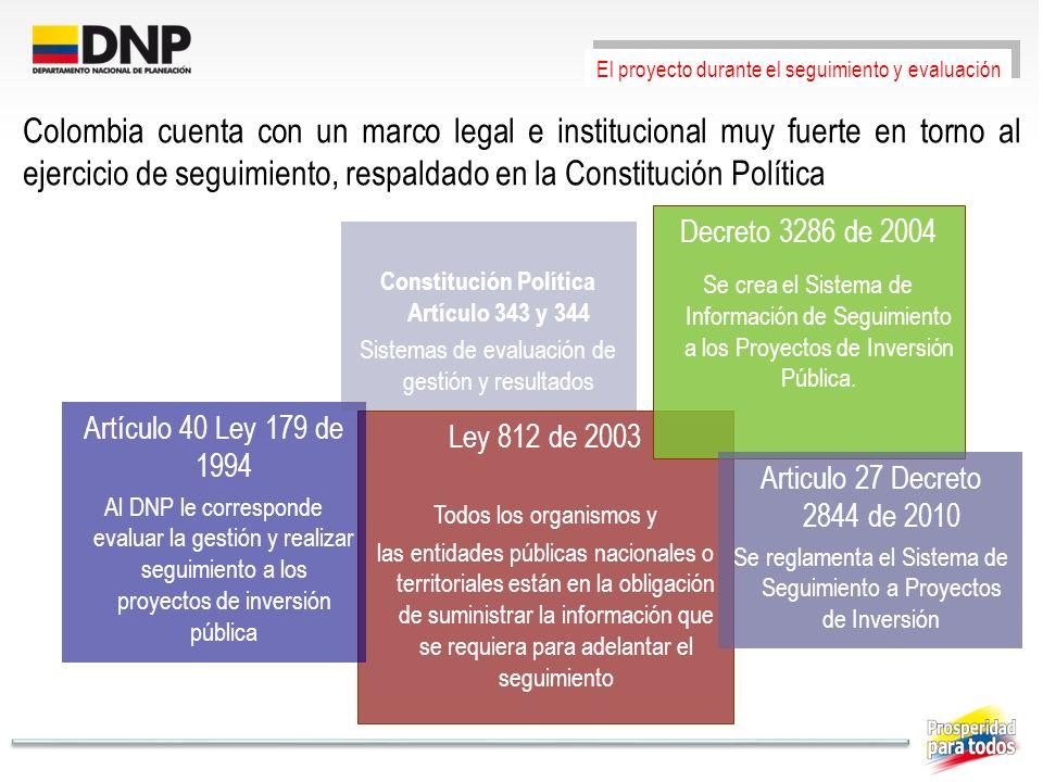Constitución Política Artículo 343 y 344