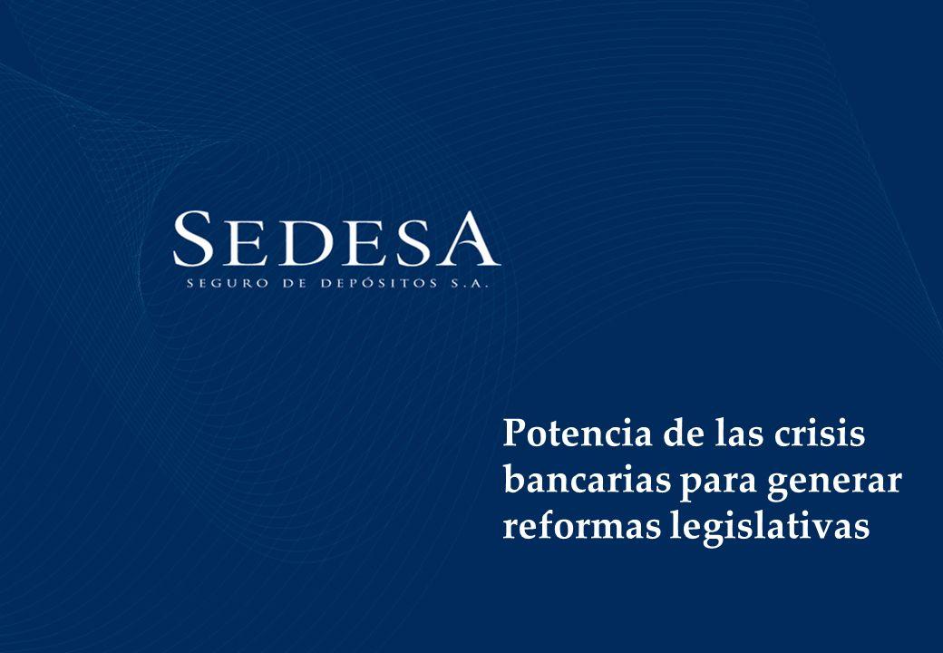 Potencia de las crisis bancarias para generar reformas legislativas