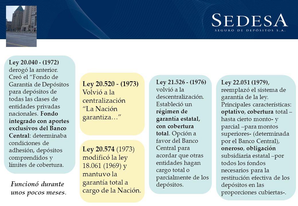 Ley 20.520 - (1973) Volvió a la centralización