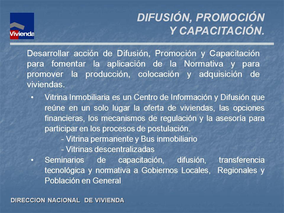 DIFUSIÓN, PROMOCIÓN Y CAPACITACIÓN.