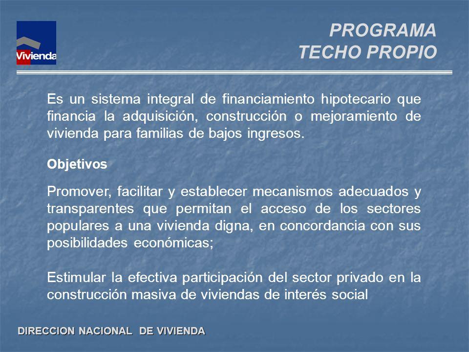 PROGRAMA TECHO PROPIO.