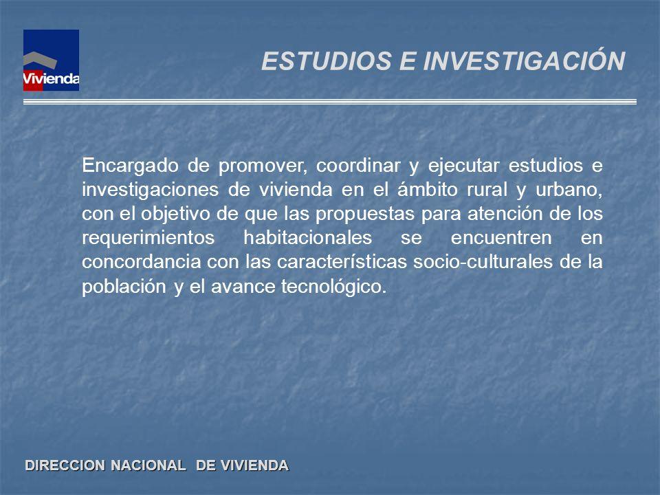 ESTUDIOS E INVESTIGACIÓN