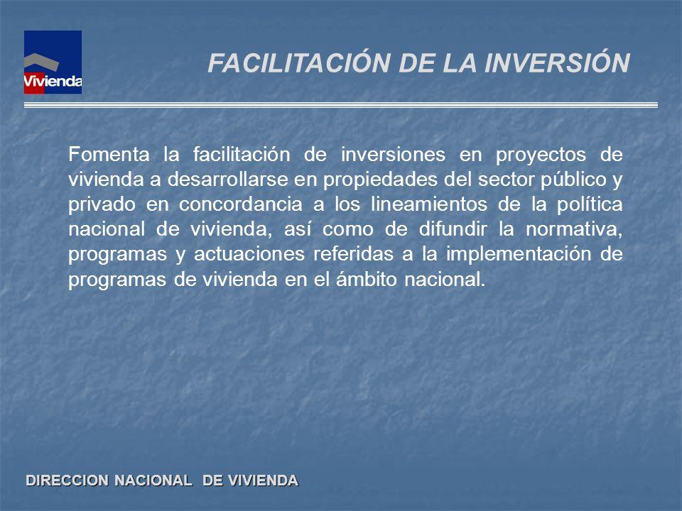 FACILITACIÓN DE LA INVERSIÓN
