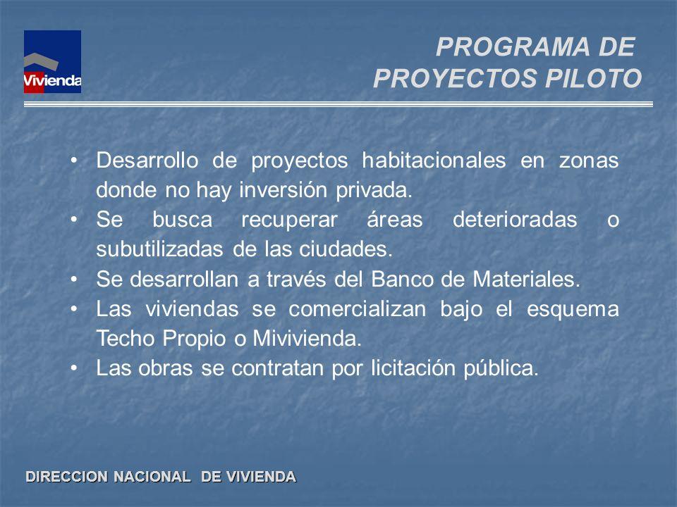 PROGRAMA DE PROYECTOS PILOTO