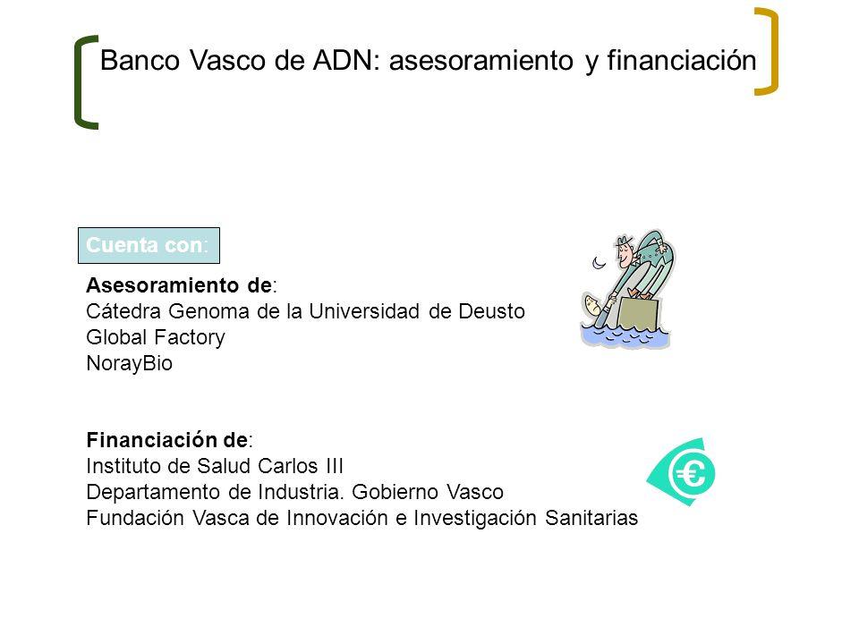Banco Vasco de ADN: asesoramiento y financiación