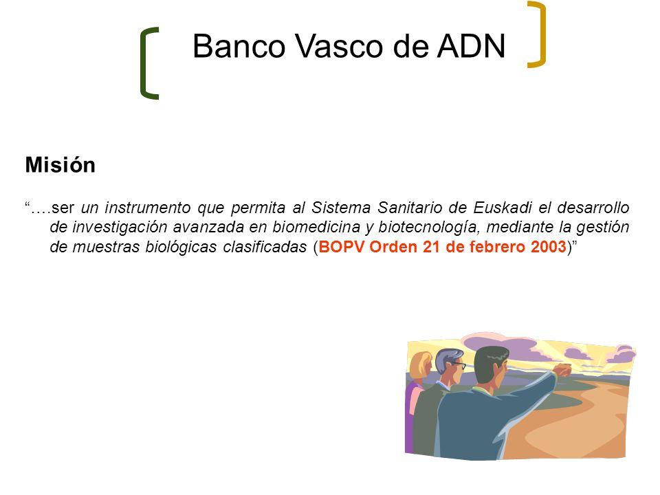 Banco Vasco de ADN Misión