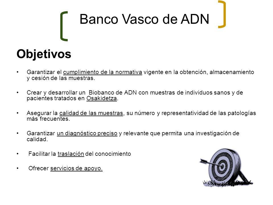 Banco Vasco de ADN Objetivos