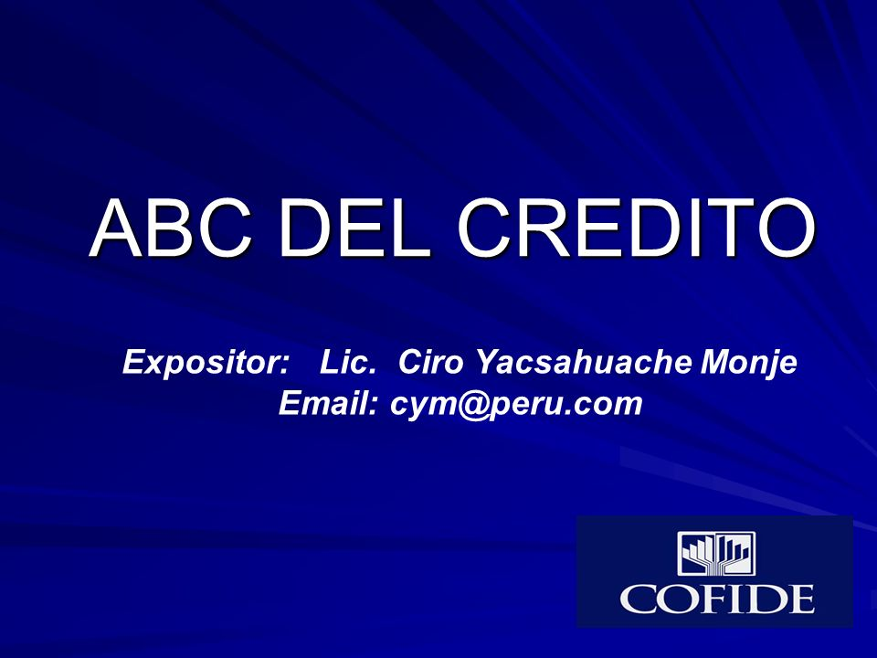 Expositor: Lic. Ciro Yacsahuache Monje